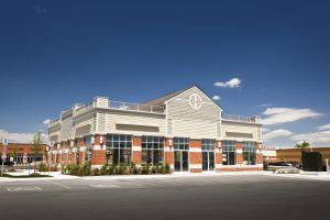 Commercial real estate property exterior location at a mall